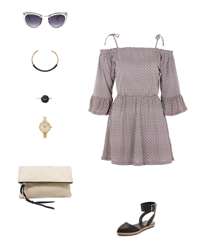 Tie Strap Off the Shoulder Trend | How She'd Wear It with Style and Cheek