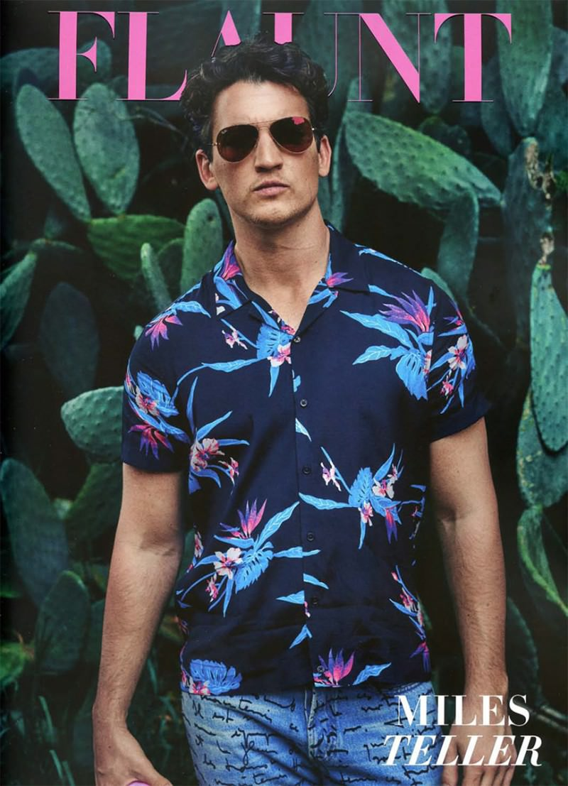 Miles Teller Flaunt Magazine | Tom and Lorenzo | Menswear Summertime Style