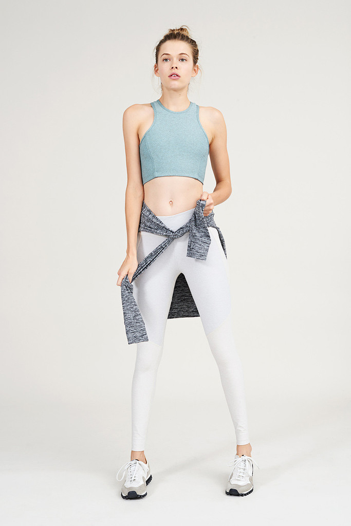 Outdoor Voices Clothing Athena Crop in Slate