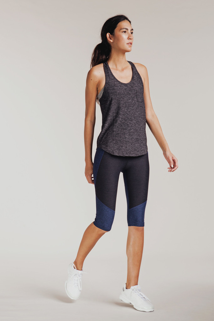 Outdoor Voices Clothing Racerback Tank in Charcoal