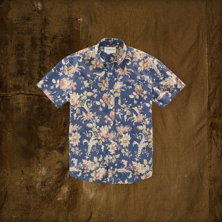 Ralph Lauren Floral Poplin Sport Shirt | Men's Short Sleeve Shirts