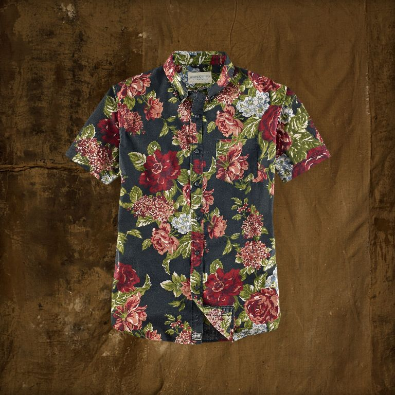 Ralph Lauren Floral Short-Sleeved Shirt | Men's Short Sleeve Shirts