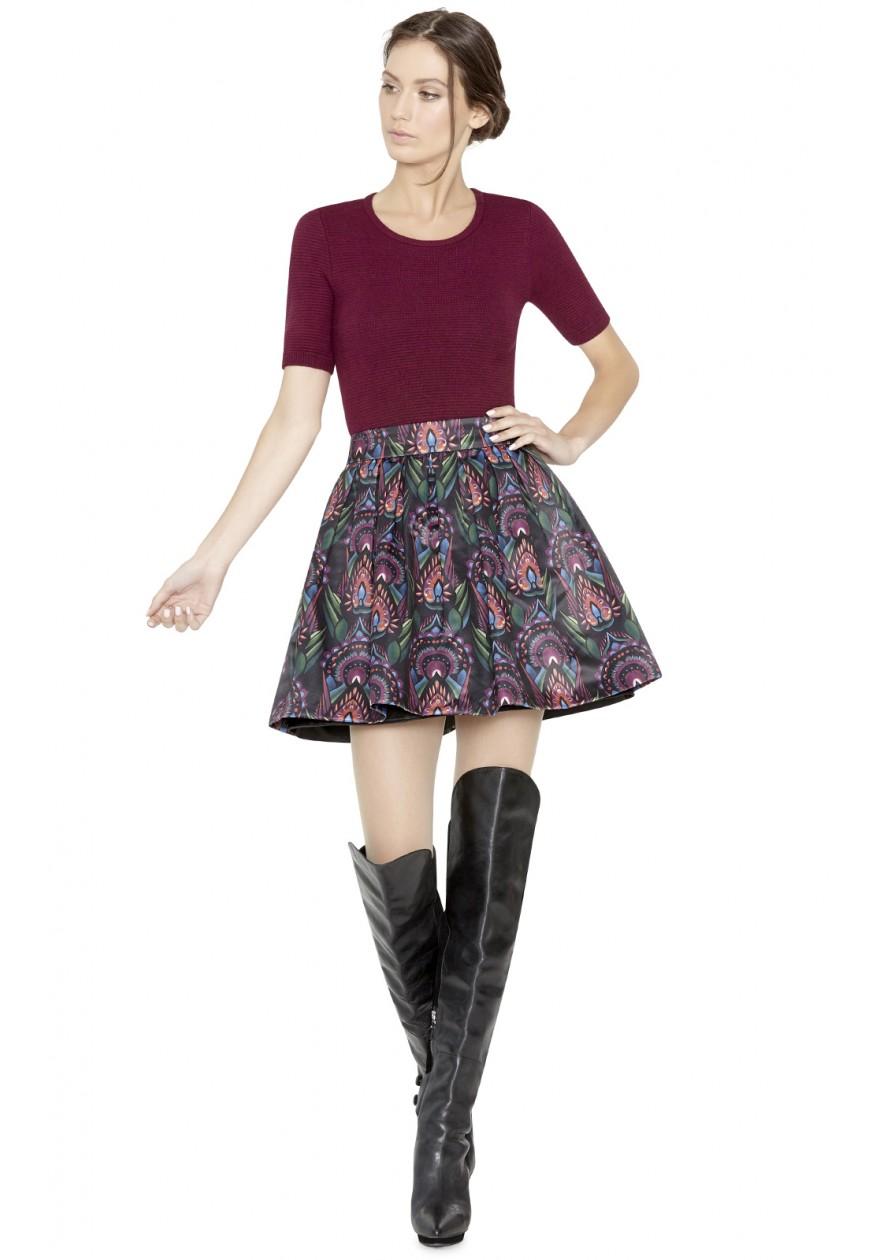 Alice + Olivia Lary Ottoman Crop Sweater   Alice Olivia Fall 2015 Collection