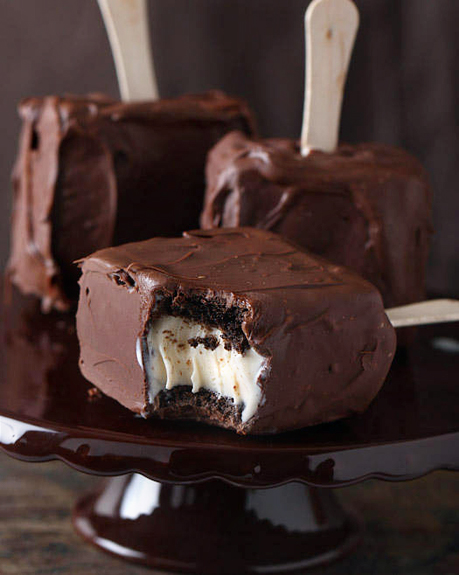 Chocolate Covered Brownie Ice Cream Sandwich | Good Life Eats | Ice Cream Sandwiches