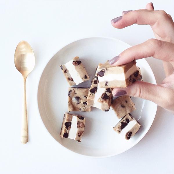 Cookie Dough Ice Cream Sandwich Bites | Glitter Guide | Ice Cream Sandwiches
