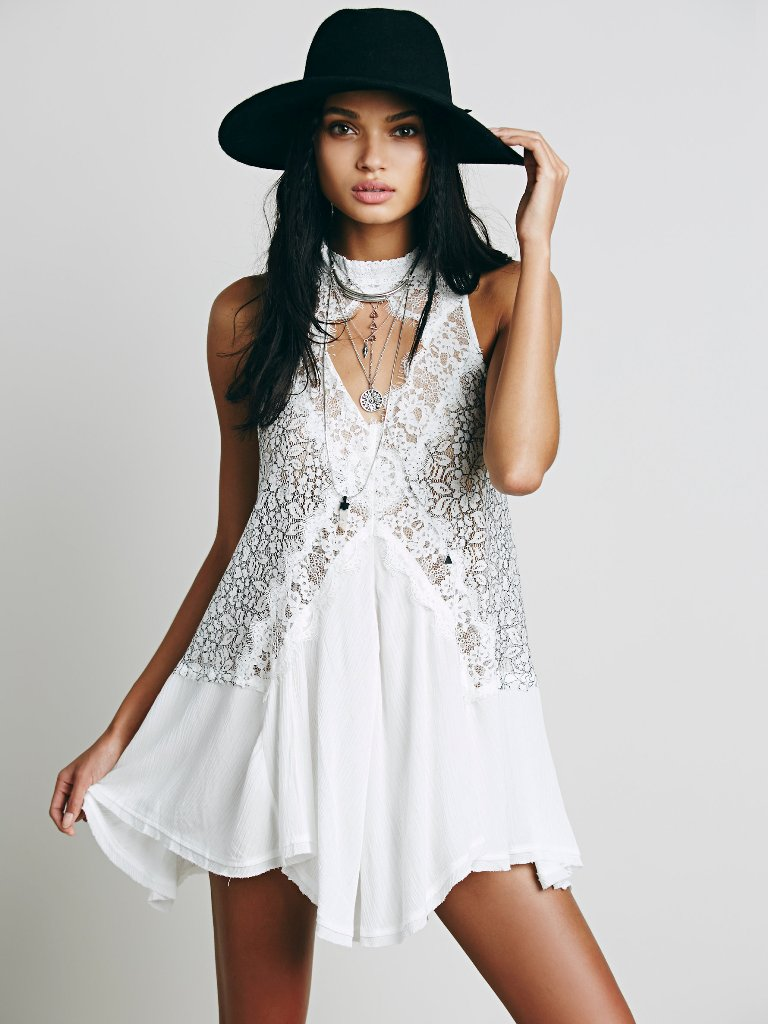 Free People Cross My Heart in Lace Tunic | Keyhole Cutouts: Keeping Your Neckline Sexy