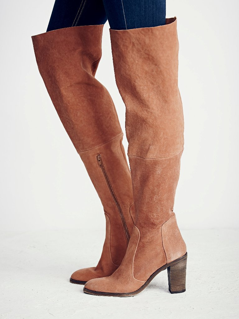 Free People Lachlan Over The Knee Boot in Rust | Free People Fall Collection 2015