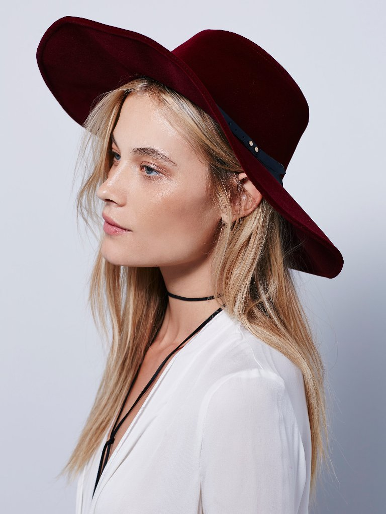 Free People Velvet Wide Brim Hat | Free People Fall Collection 2015