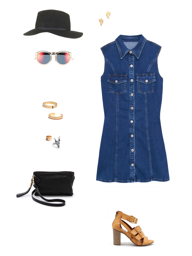 How She'd Wear It with Style and Cheek - Denim Shirtdresses