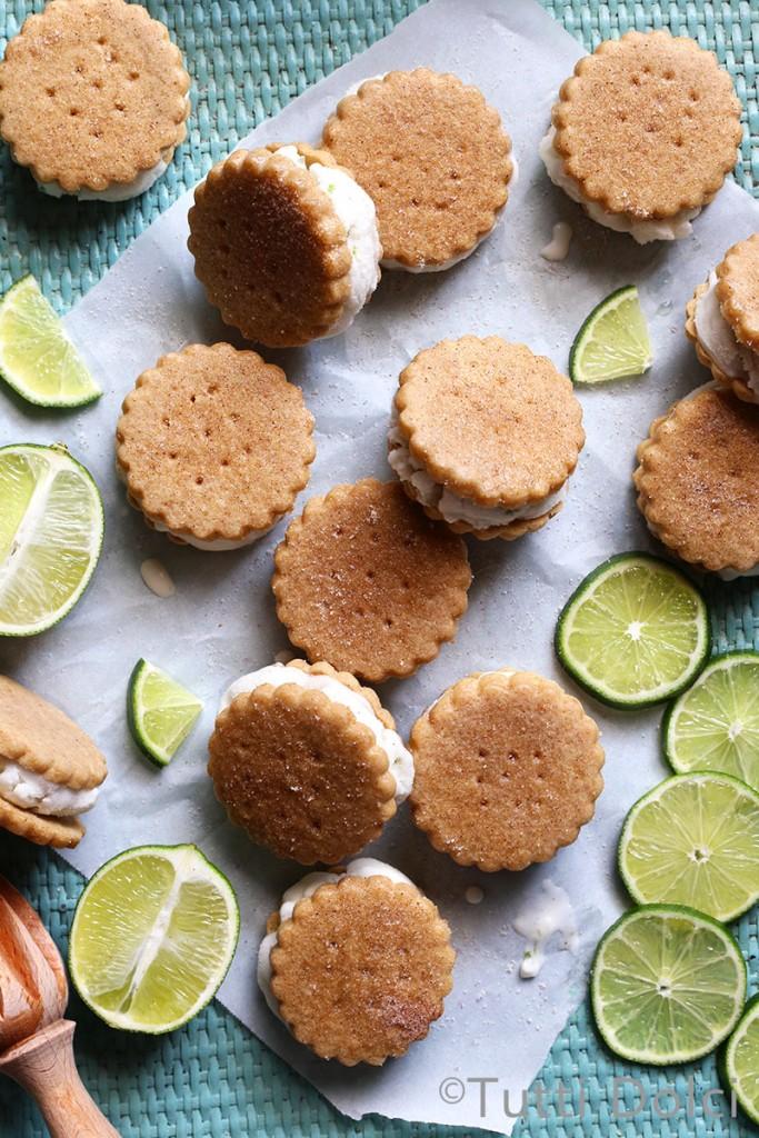 Key Lime Pie Ice Cream Sandwiches | Tutti Dolci | Ice Cream Sandwiches