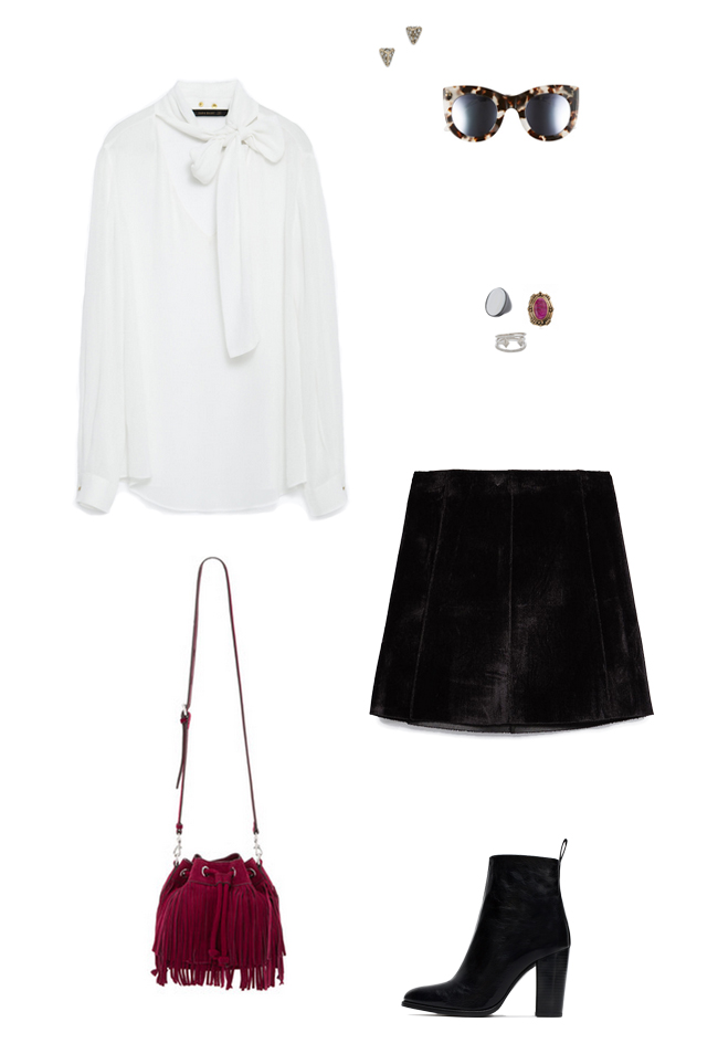 How She'd Wear It with Style and Cheek - High Waisted Mini Skirts