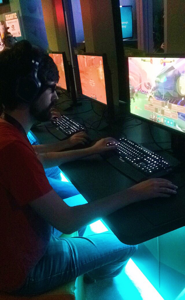 Our friend Jason playing a game at PAX PRIME 2015