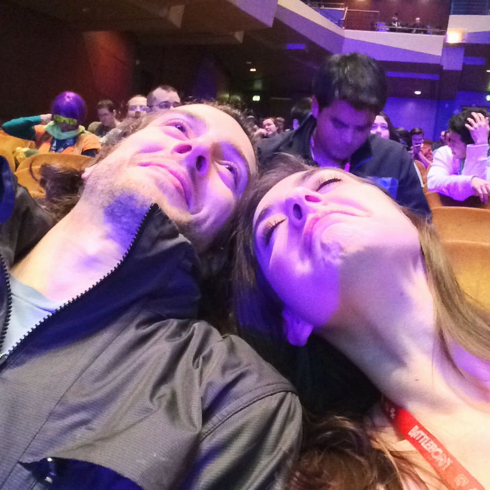 Dan and I dying at PAX PRIME 2015