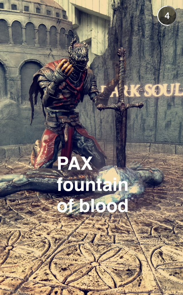 PAX PRIME 2015 fountain of blood!