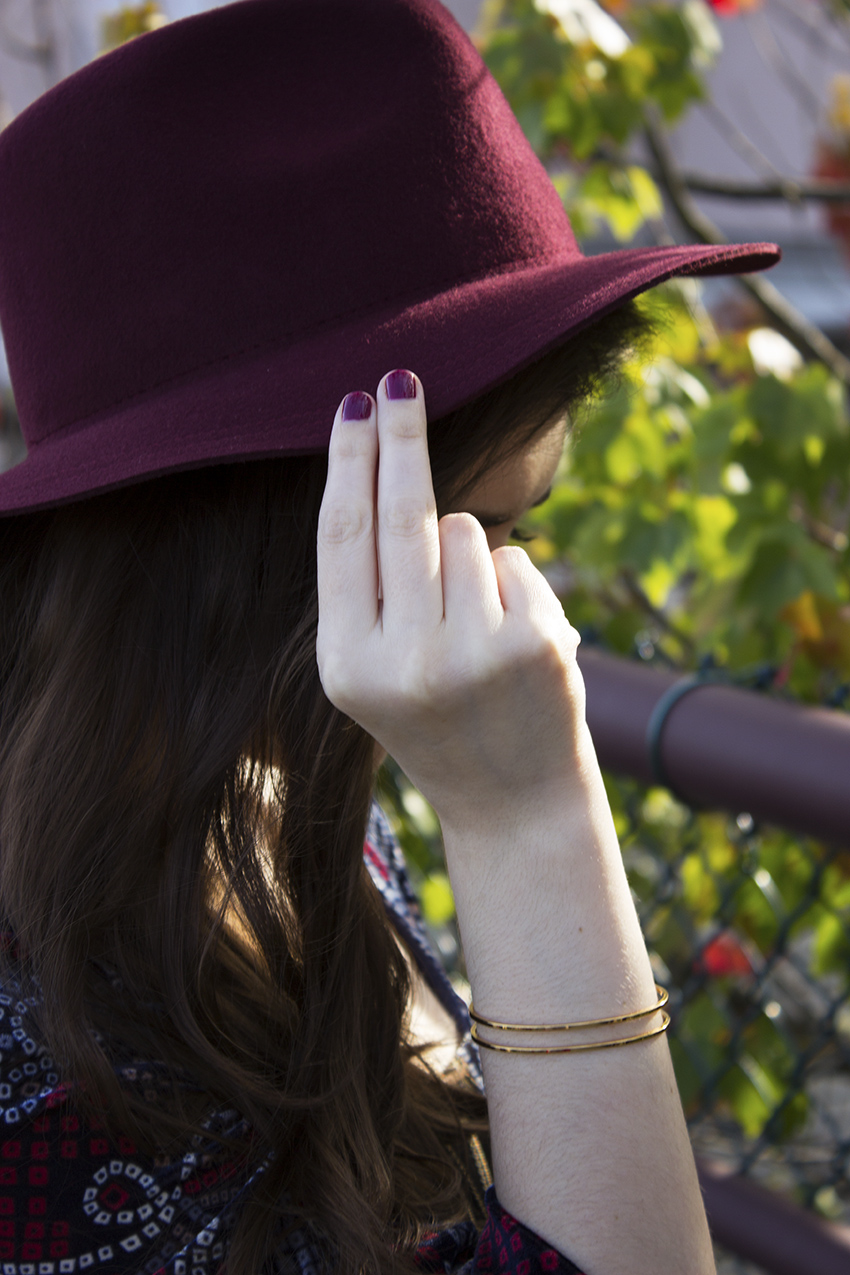 Moorea Seal Morley hat and Infinity cuff boho outfit