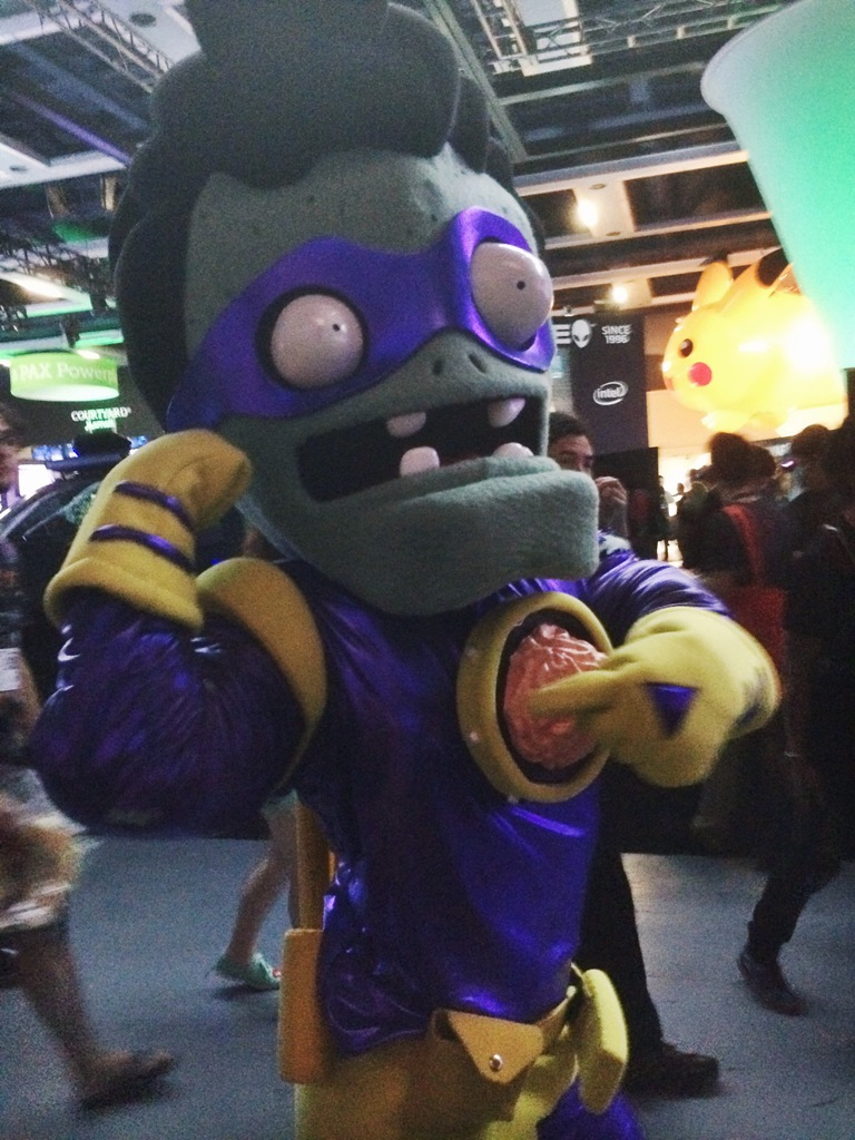 Plants vs Zombies guy at PAX PRIME 2015