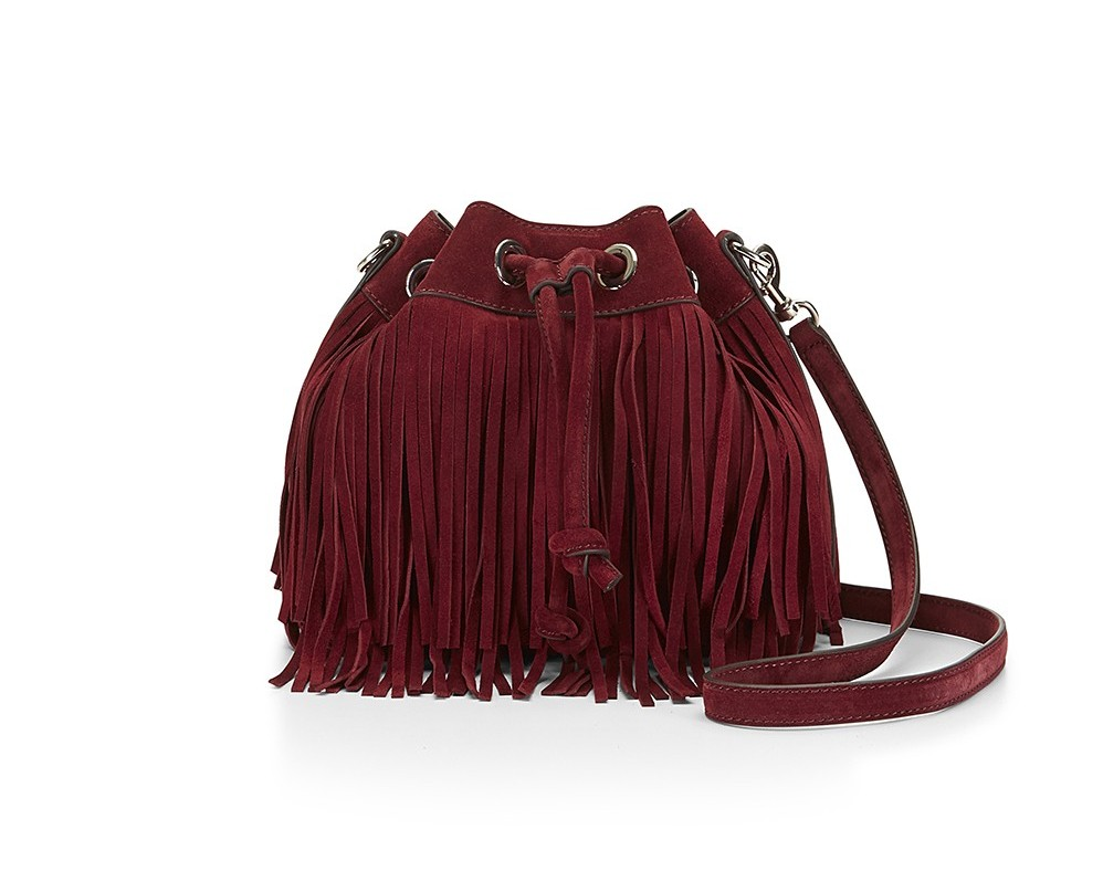 Rebecca Minkoff Suede Fringe Mini Fiona Bucket | Rebecca Minkoff Bags and Tech Accessories
