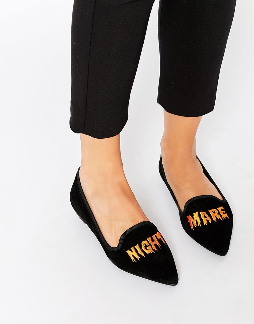 ASOS LIVID Halloween Nightmare Pointed Ballet Slippers | Spooky Style