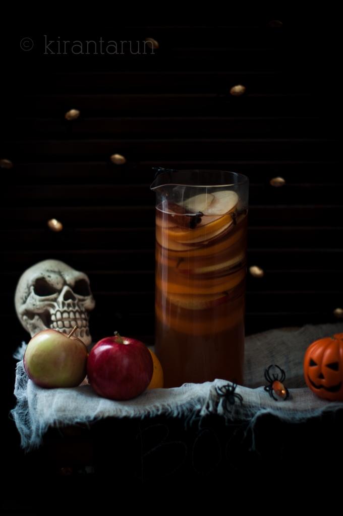 Apple Bourbon & Pumpkin Sangria | Kiran Tarun | 8 Eerie Halloween Cocktails