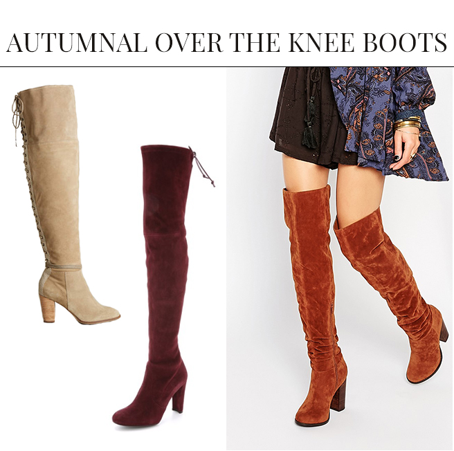 Autumnal Over the Knee Boots | Over the Knee Boots: The IT Shoe for Fall & Winter