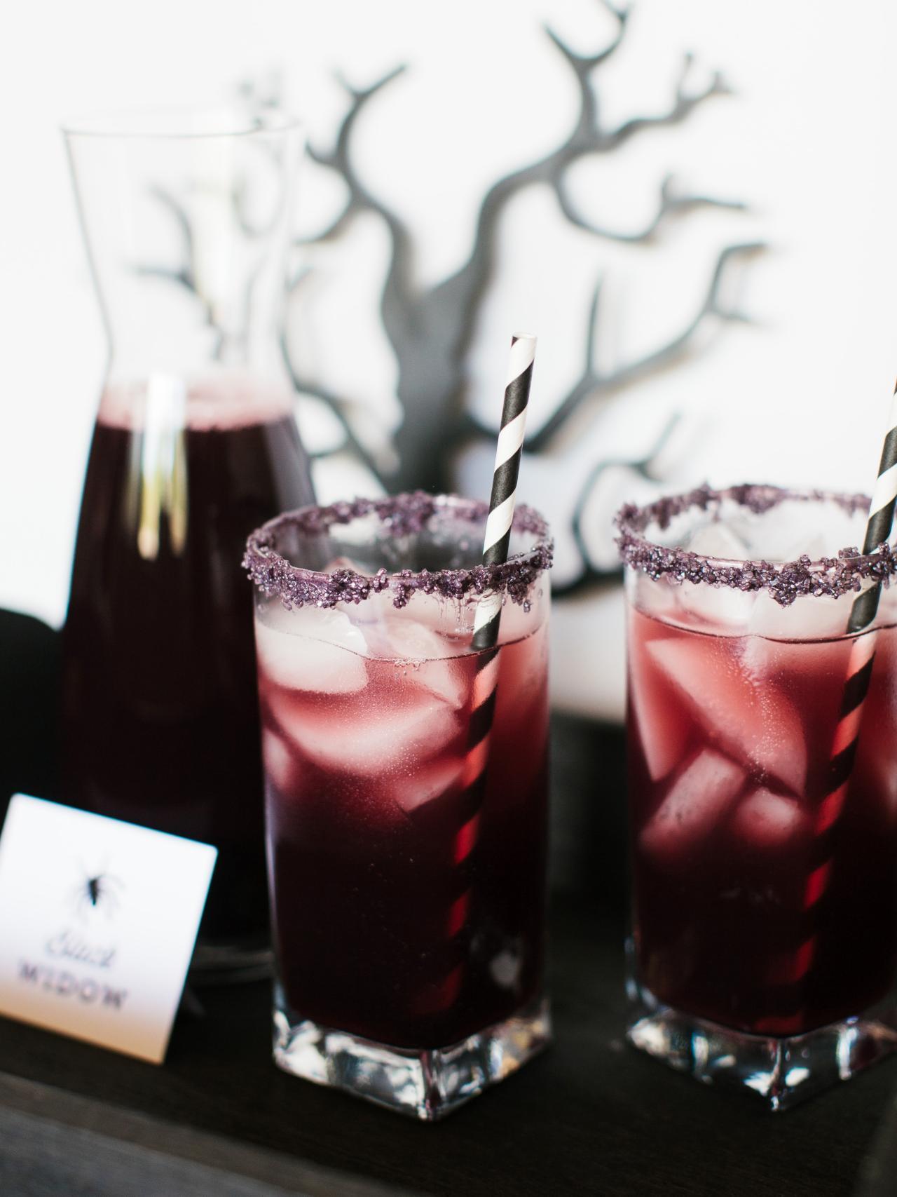Black Widow Cocktail | DIY Network | 8 Eerie Halloween Cocktails