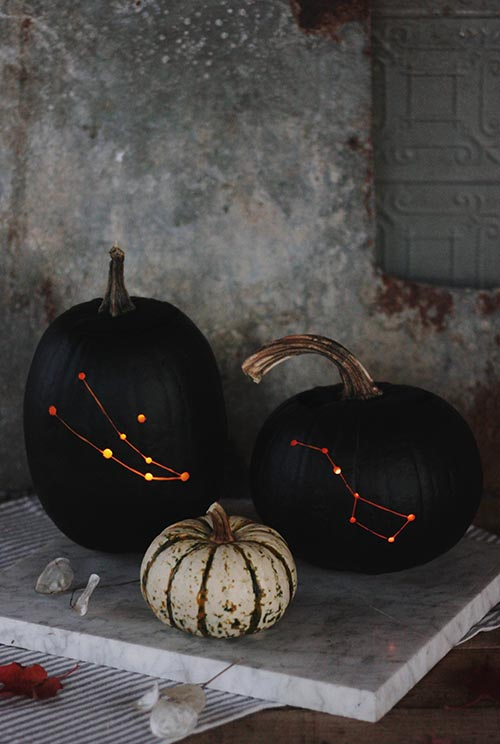 DIY Constellation Pumpkin by The MerryThought DIY | Design Sponge | DIY Pumpkin Decorations