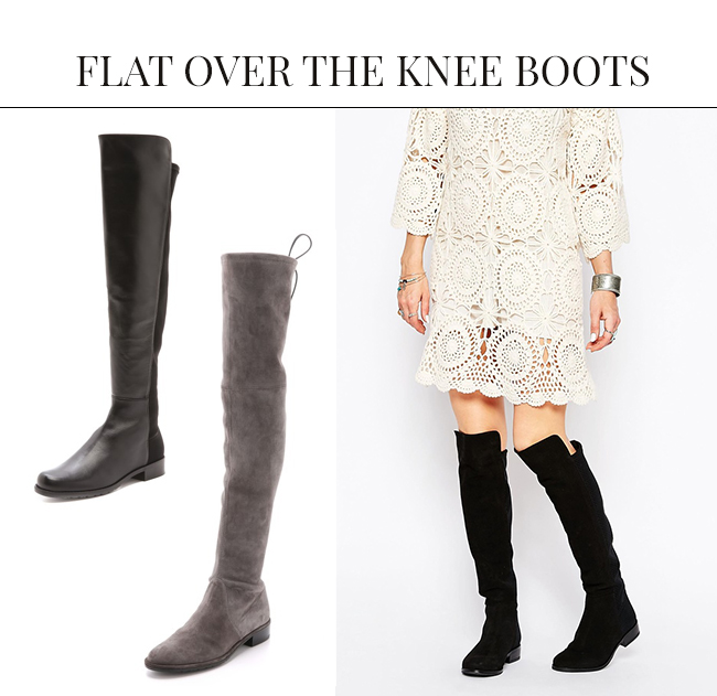 Flat Over the Knee Boots | Over the Knee Boots: The IT Shoe for Fall & Winter
