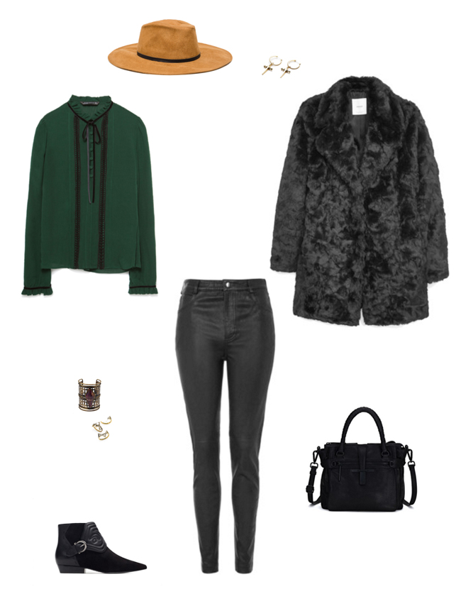 How She'd Wear It with Style and Cheek - Faux Fur Boho Style