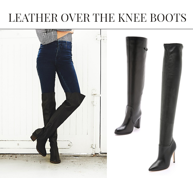 Leather Over the Knee Boots | Over the Knee Boots: The IT Shoe for Fall & Winter