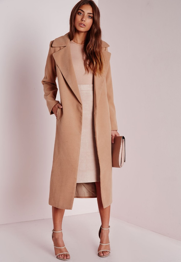 Missguided Oversized Camel Coat | Camel Coats