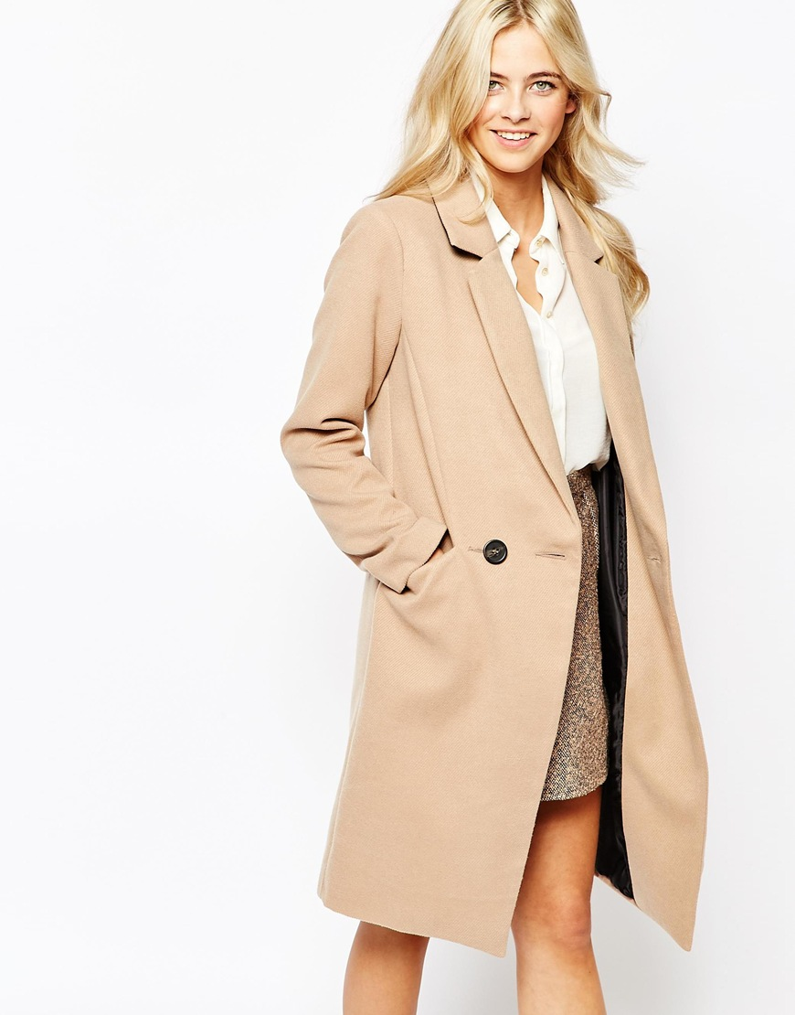 Oasis Double Breasted Car Coat | Camel Coats