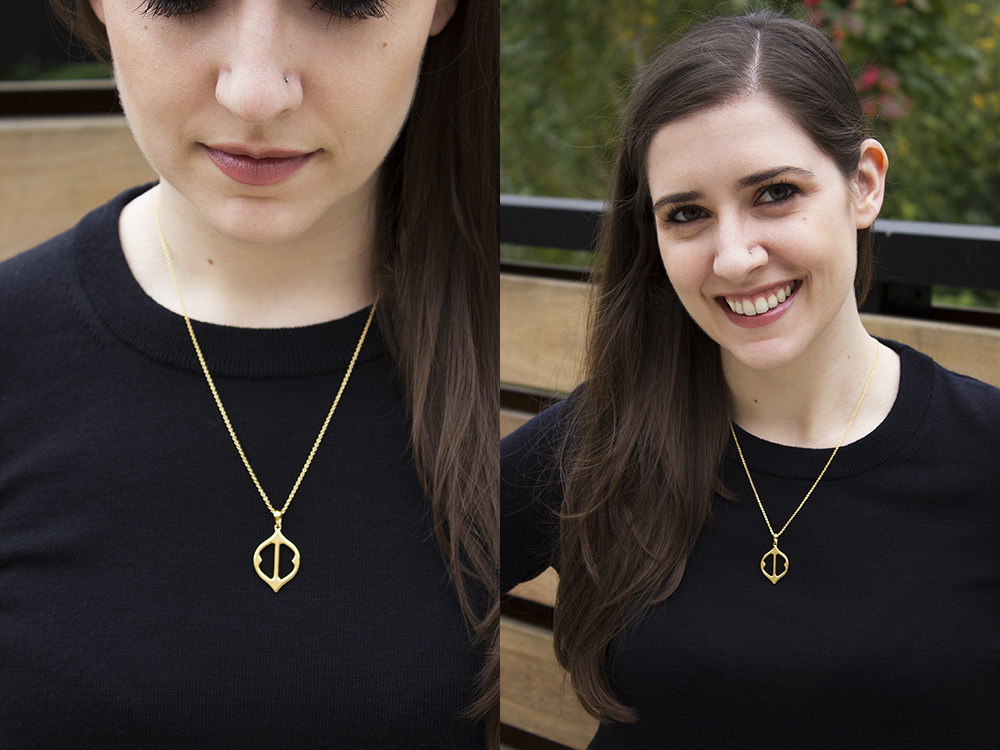 Stella & Dot Fortuna Stone Drop Pendant Necklace Look 1 | Stella and Dot Review with Style and Cheek