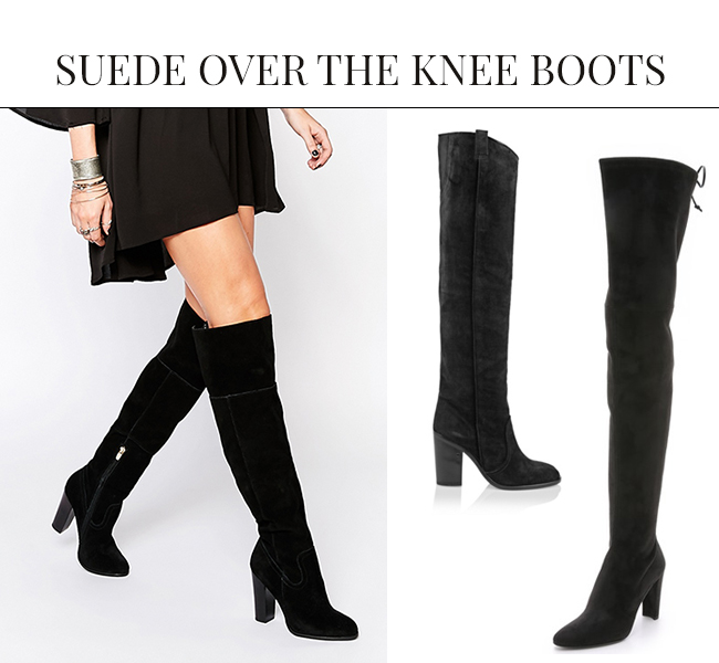 Suede Over the Knee Boots | Over the Knee Boots: The IT Shoe for Fall & Winter