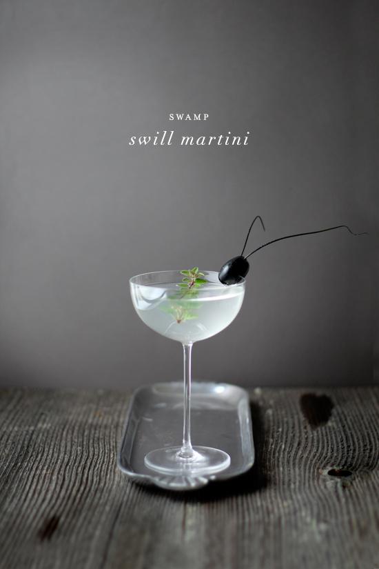 Swamp Swill Martini | Julep | 8 Eerie Halloween Cocktails