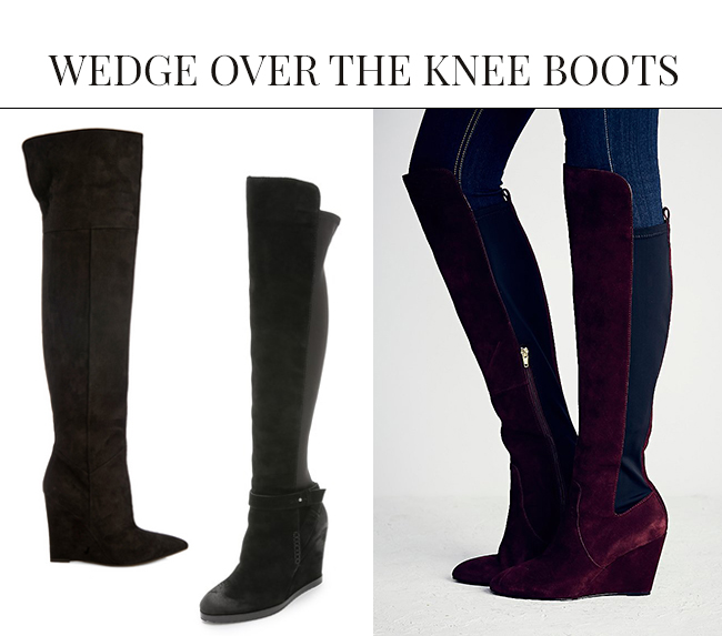 Wedge Over the Knee Boots | Over the Knee Boots: The IT Shoe for Fall & Winter