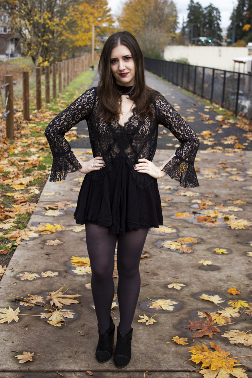 Free People Secret Origins Pieced Lace Tunic | Witchy Outfit Post
