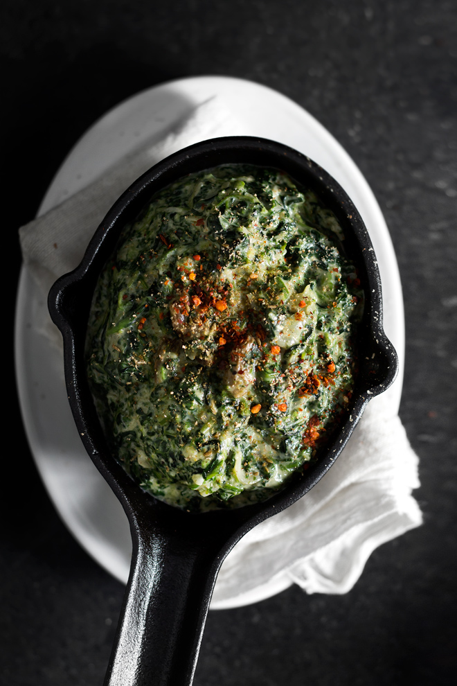 Garam Masala Yogurt-Creamed Spinach | Lady and Pups | Drool Worthy Thanksgiving Side Dishes