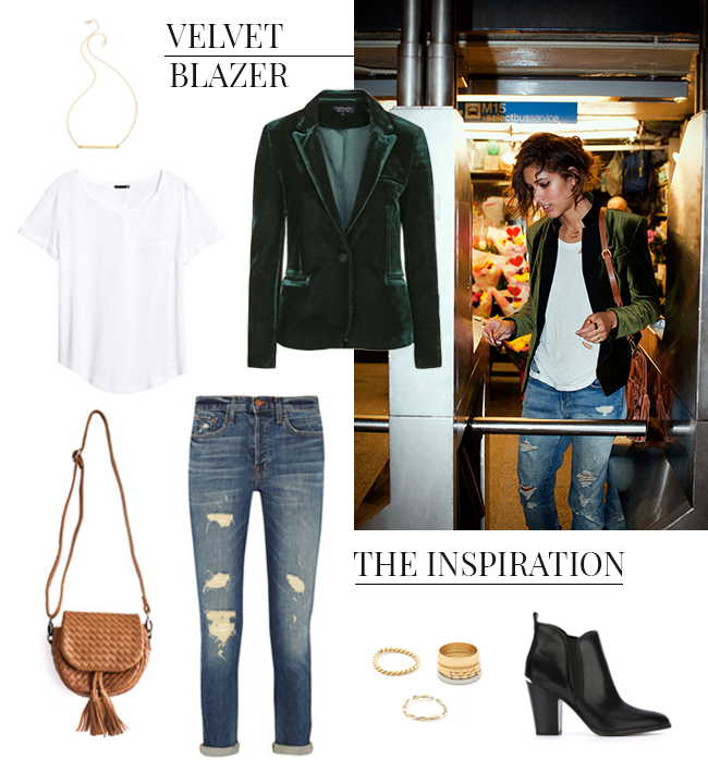 How She'd Wear It with Style and Cheek - Velvet Blazers