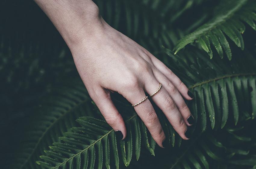 Masha Moon Jewelry - Nina Ring and Uli Ring on Julia of Style and Cheek photo by Philip Woolridge