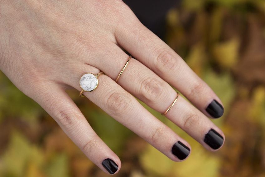 Moorea Seal Super Moon Ring and Moorea Seal Classic Stacking Ring | Witchy Outfit Post