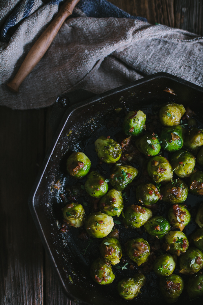 Sautéed Sherry Brussels Sprouts | Adventures in Cooking | Drool Worthy Thanksgiving Side Dishes