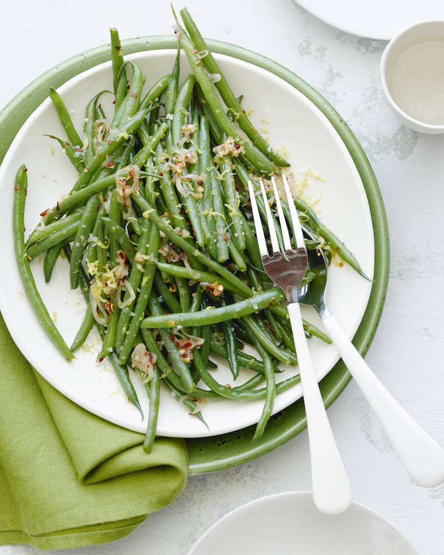 Spicy Garlic Green Beans | What's Gaby Cooking | Drool Worthy Thanksgiving Side Dishes