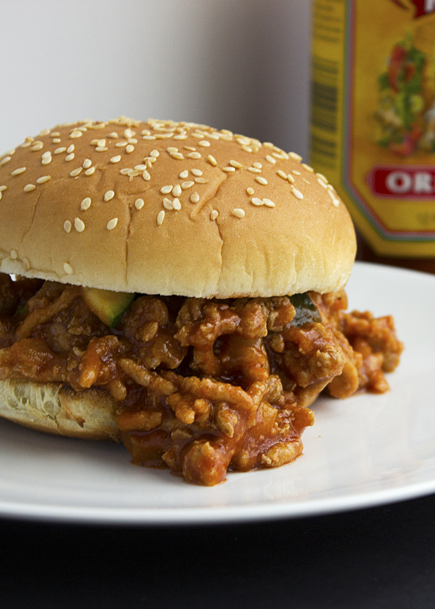 Turkey sloppy joes with zucchini 2
