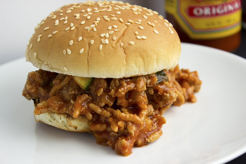 Turkey sloppy joes with zucchini