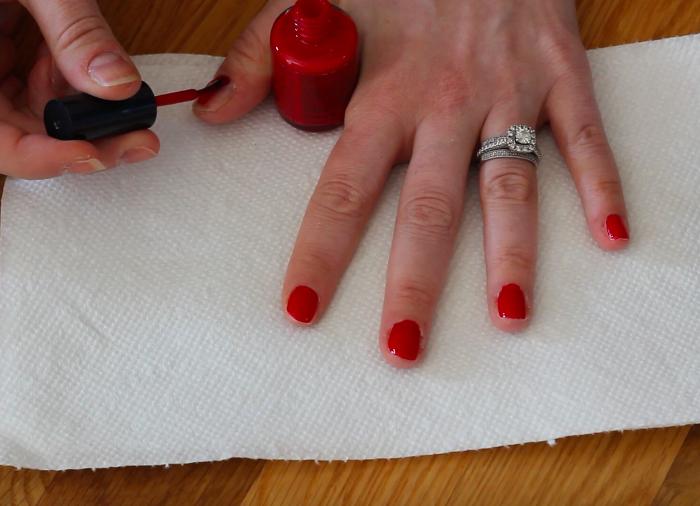 Holiday Nail Art: Step 2   Beauty Basics