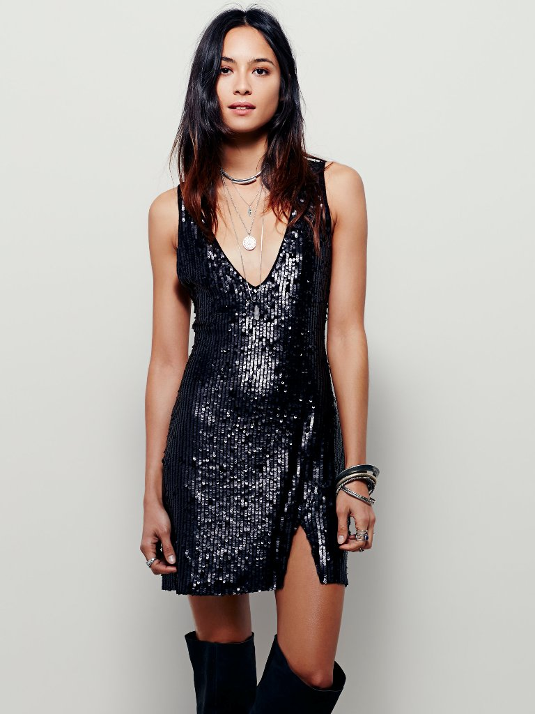 Free People Sexy In Sequins Slip | Sexy New Year's Eve Dresses