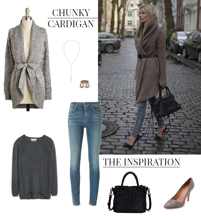 Chunky Cardigans   How She'd Wear It with Style and Cheek