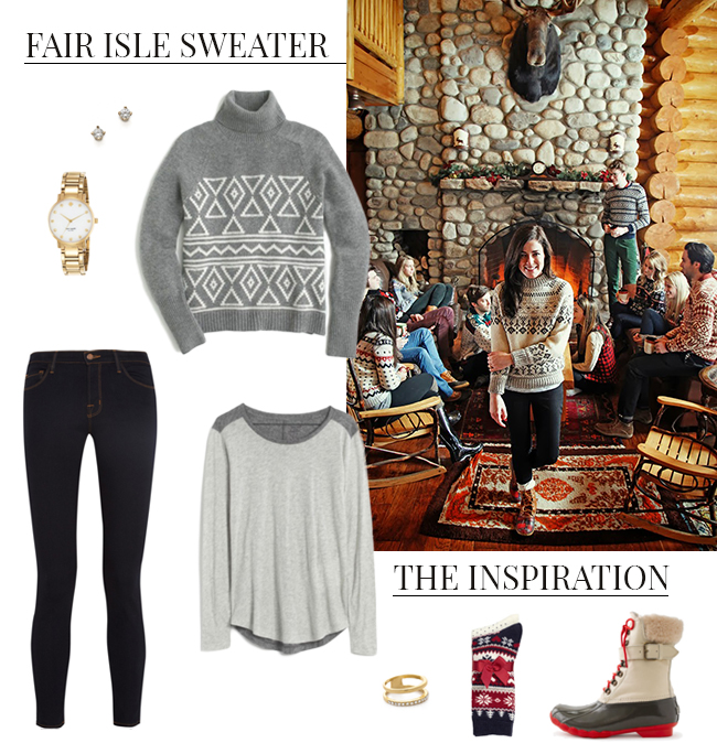 How She'd Wear It with Style and Cheek - Fair Isle Sweaters