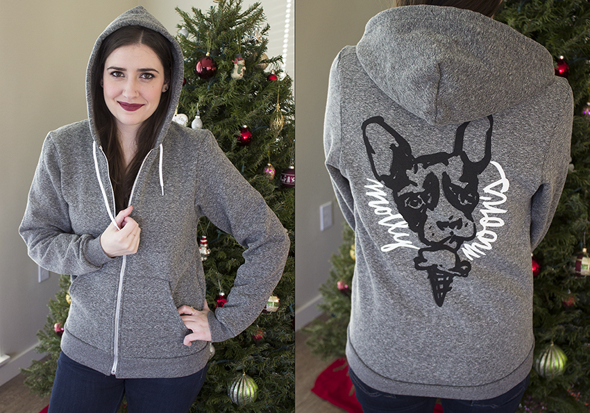 Molly Moon's Holiday Ice Cream Sandwich with Style and Cheek - Molly Moon Adult Brushed Parker Hoodie