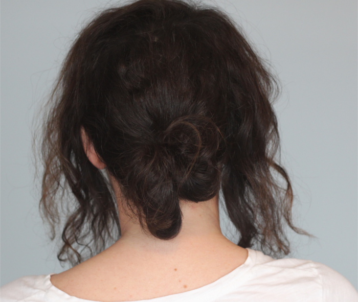 Holiday Hair Updos: Twisted Messy Bun - Step 2 | Beauty Basics